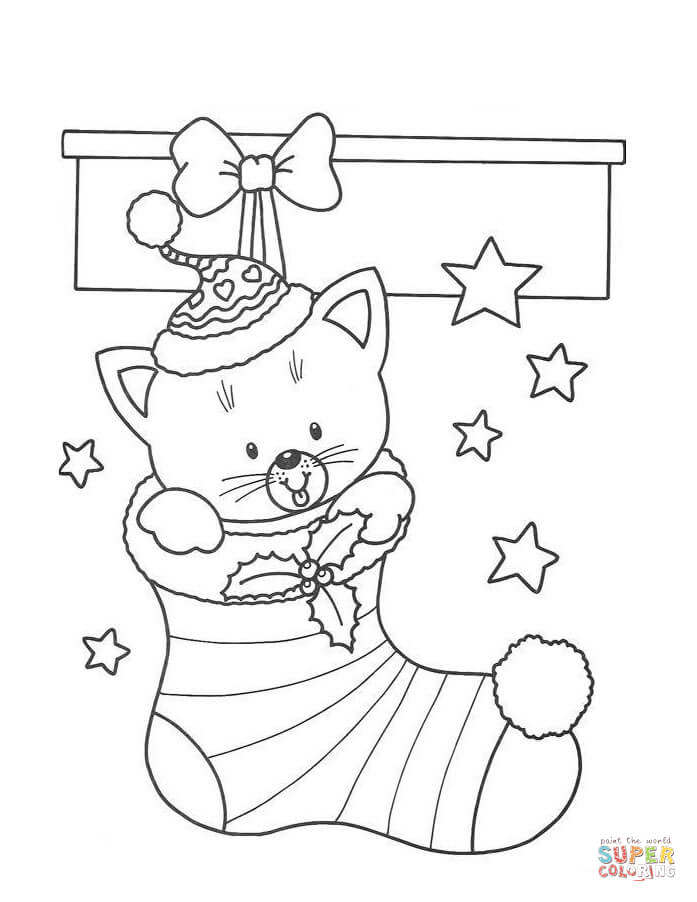 697x902 Christmas Stocking Coloring Pages Christmas Stockings Coloring