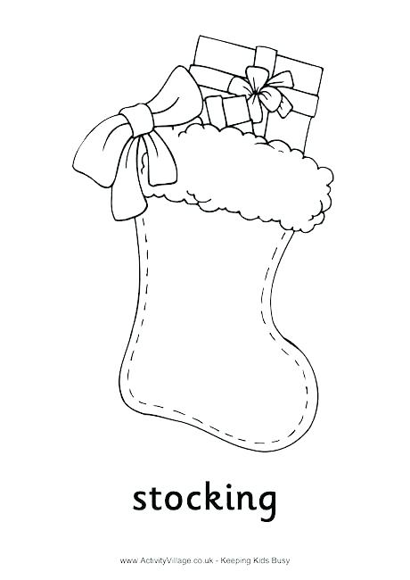460x650 Socks Coloring Pages Socks Coloring Pages Stocking Colouring Page