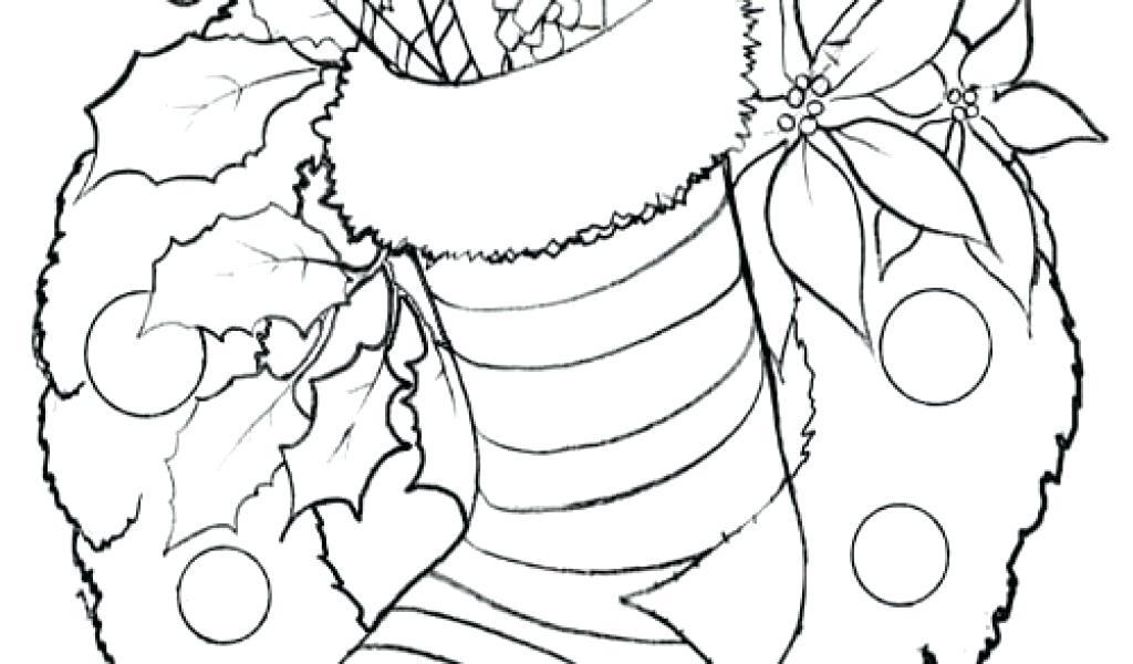 1024x600 Stocking Coloring Page Puppy For Present In Stockings Coloring