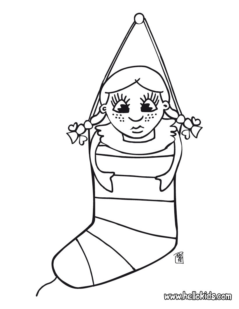 820x1060 Linkcity Print Free Christmas Stocking Coloring Pages Online