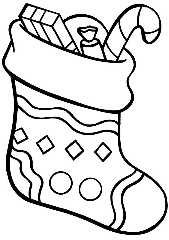 563x800 Luxury Stocking Coloring Page Logo And Design Ideas