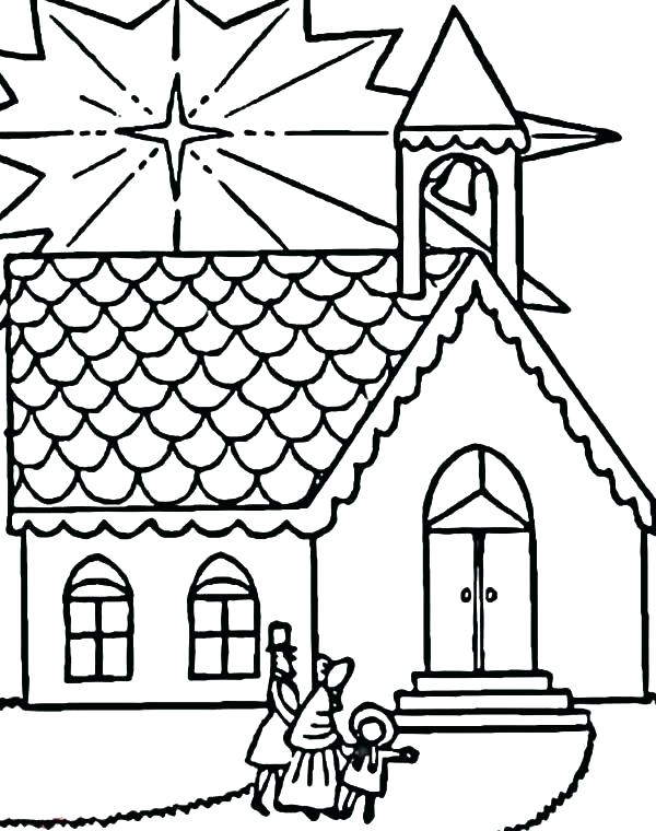 600x760 Church Coloring Pages Christian Coloring Pages Church Page Color