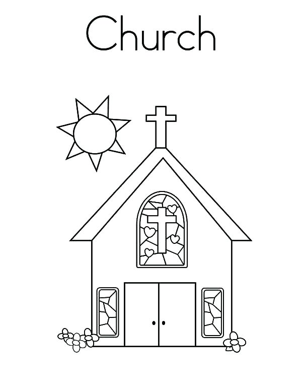 600x776 Free Childrens Coloring Pages Church Coloring Page Church Coloring