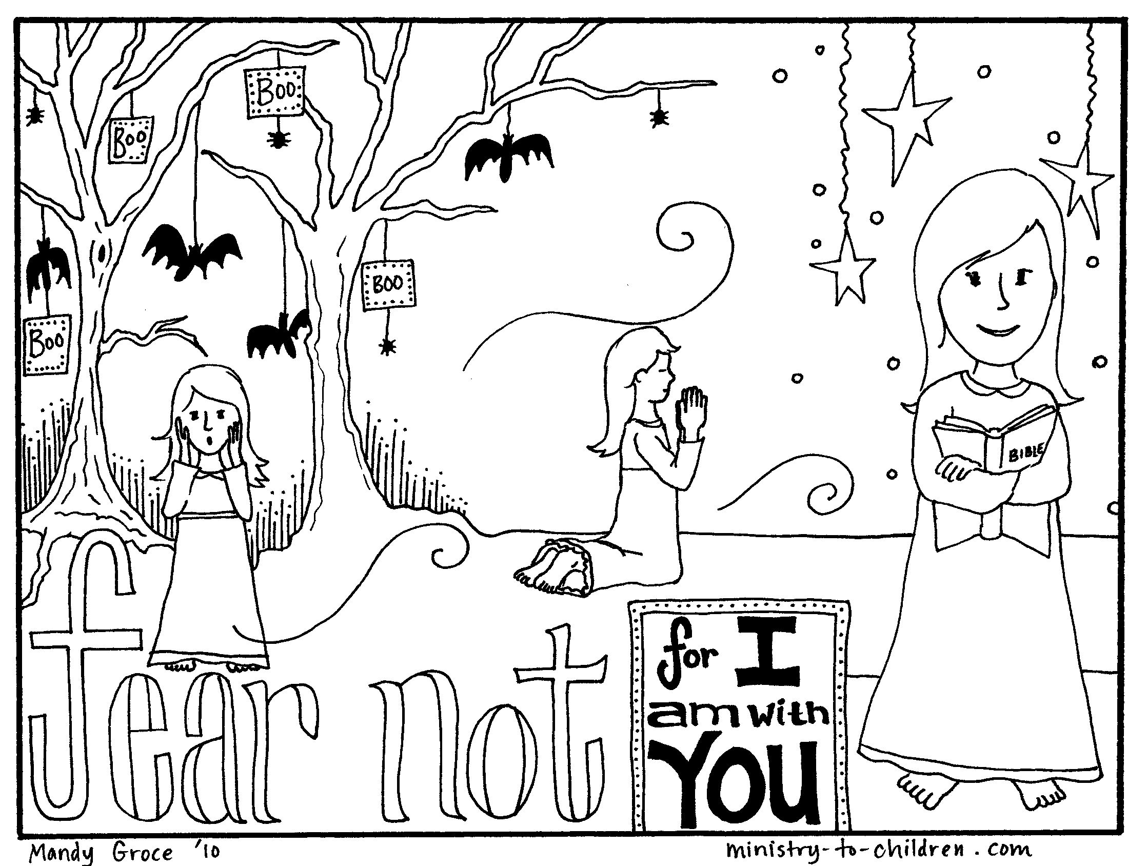 2236x1688 Free Coloring Page Teaches Kids That Faith Can Overcome Fear Http