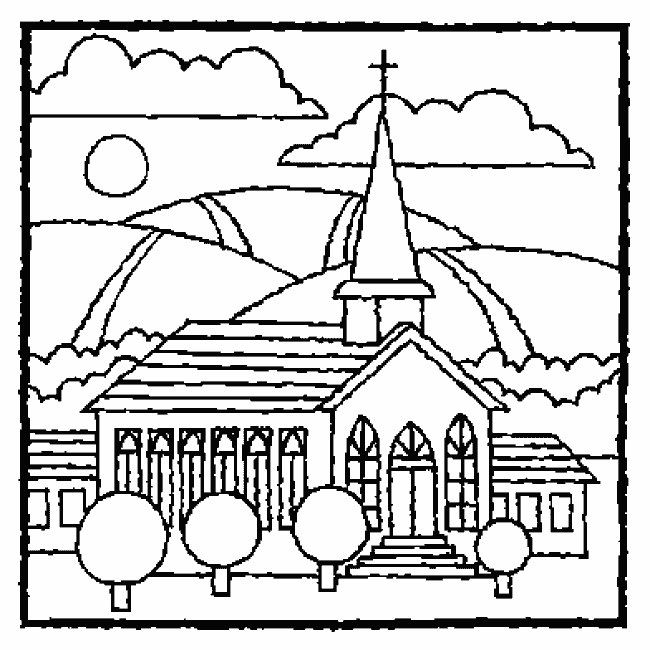 650x650 Childrens Coloring Pages For Church Church For Children Coloring