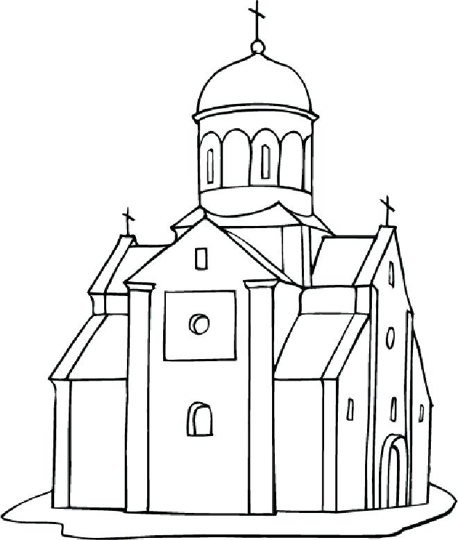 660x779 Coloring Pages Church