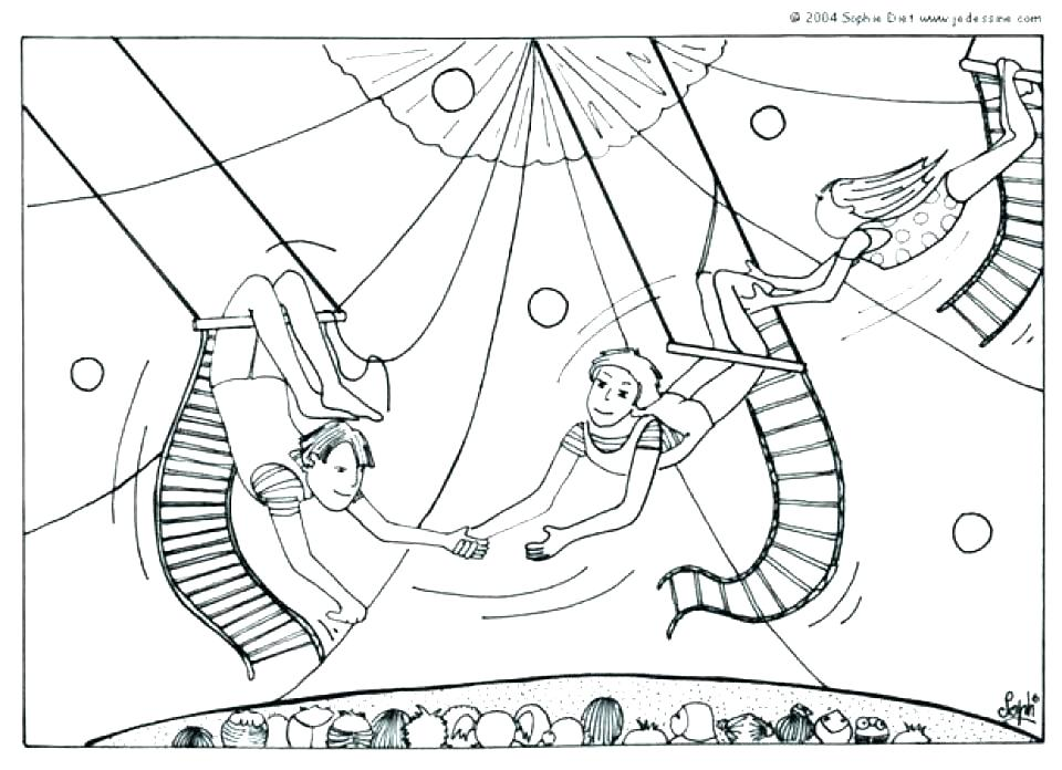 960x696 Circus Coloring Pages Circus Coloring Pages Circus Coloring Page