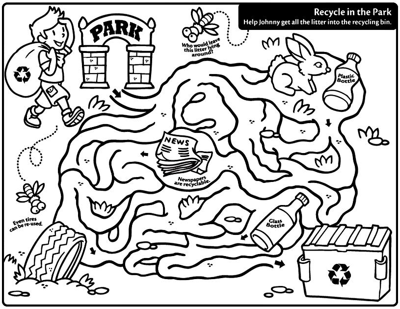815x630 Coloring Activities Recycle Coloring Pages Free Download Clip Art