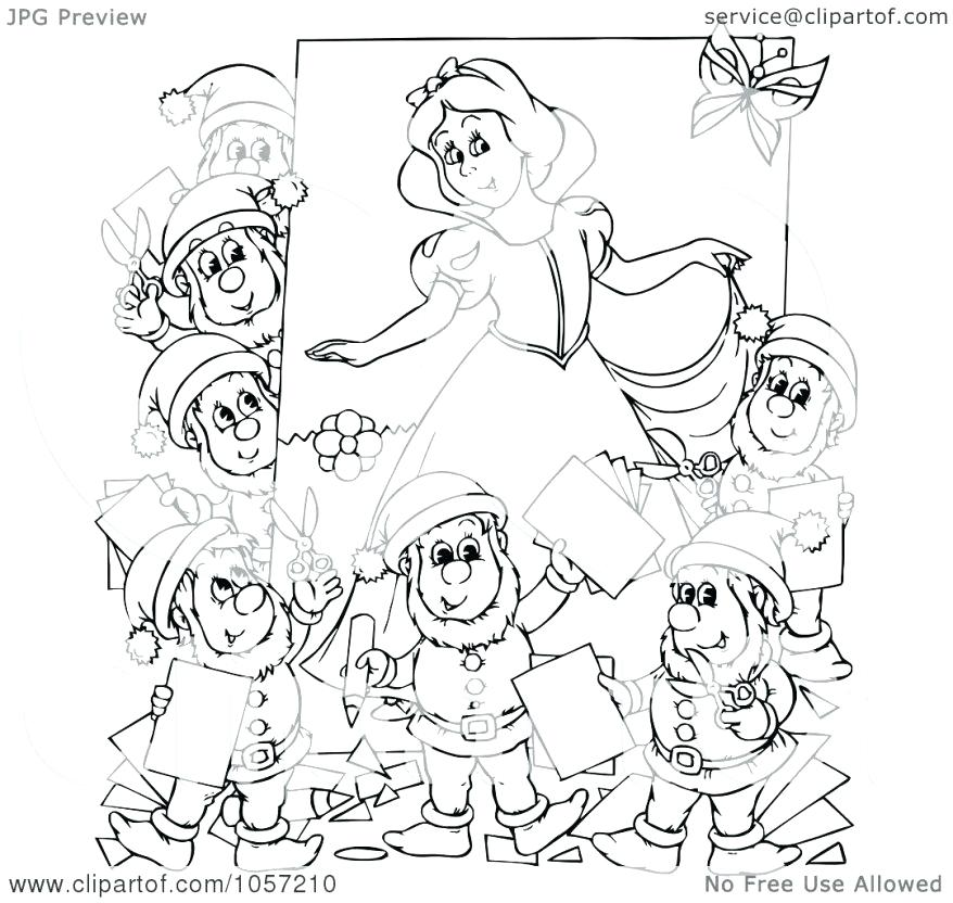 878x832 Dwarfs Coloring Pages Coloring Royalty Free Clip Art