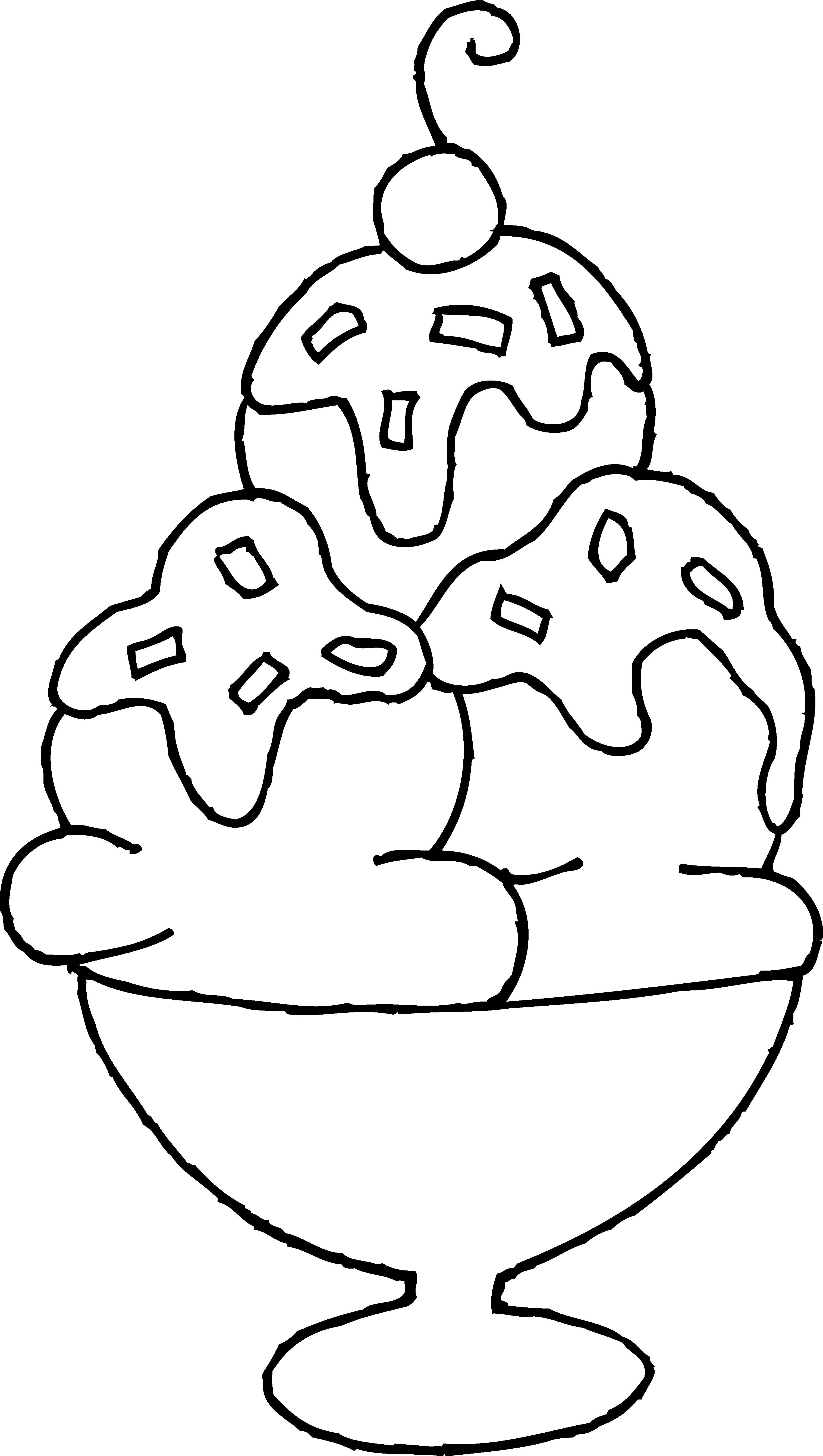 3030x5360 Ice Cream Sundae Coloring Page Acpra