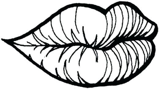 520x293 Lips Coloring Pages Lips Coloring Pages Free Download Clip Art