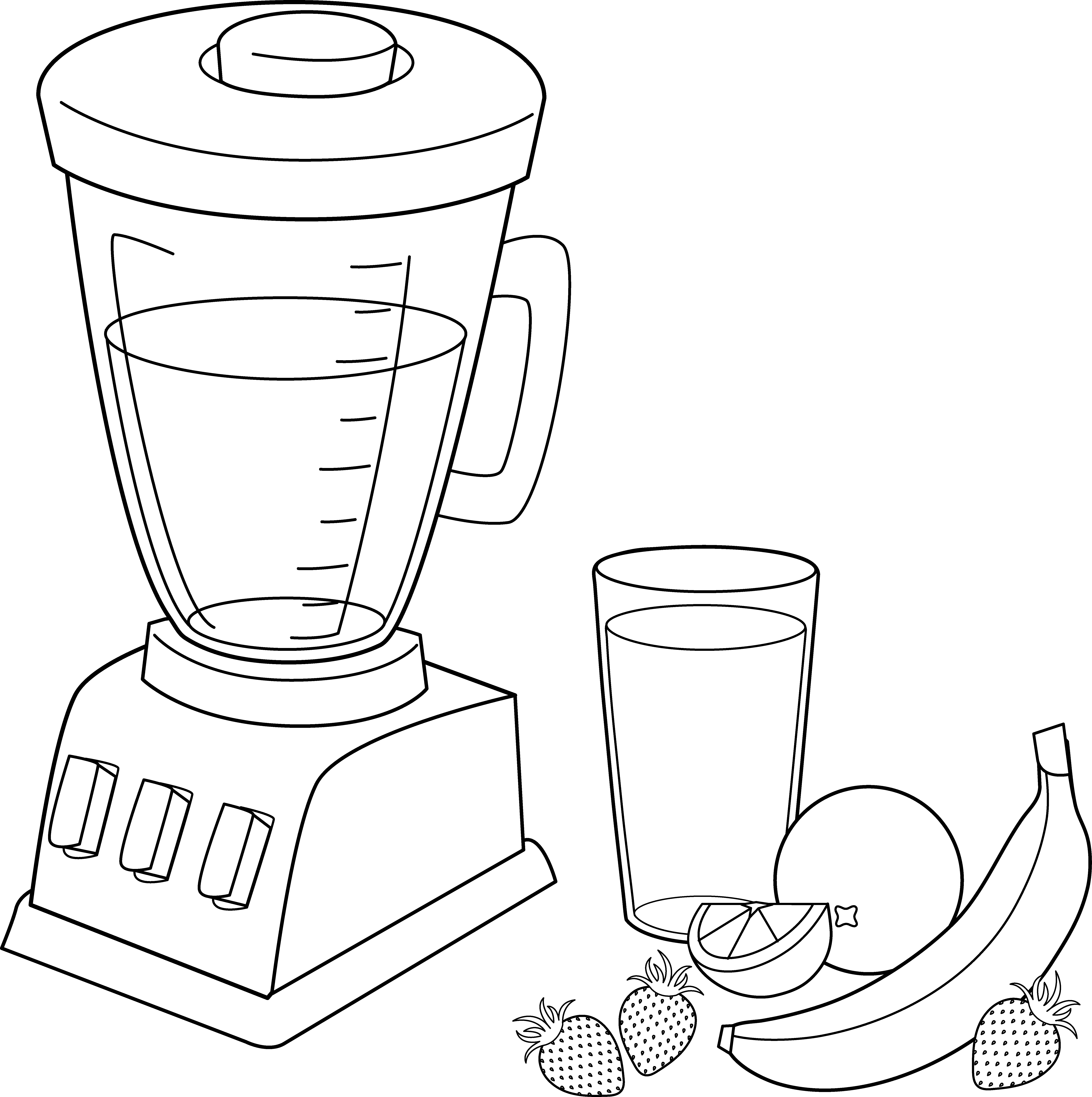 6567x6594 Unique Fruit Smoothie Coloring Pages Collection Printable