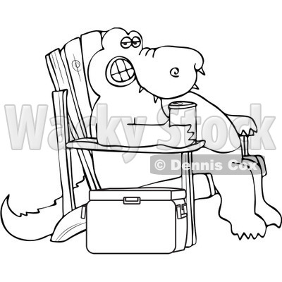 400x400 Adirondack Chairs Coloring Pages Free Vector Clip Art Illustration