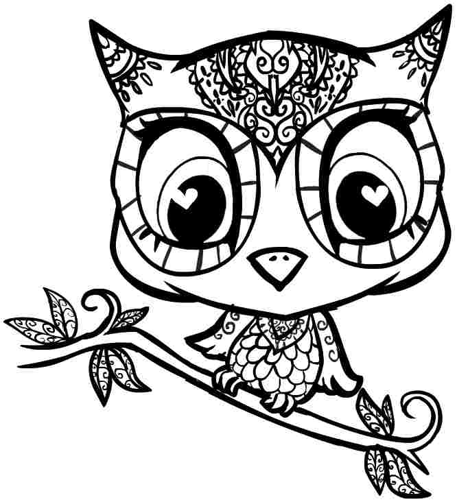 666x732 Free Printable Owl Coloring Pages Cartoon Owl Coloring Pages Free