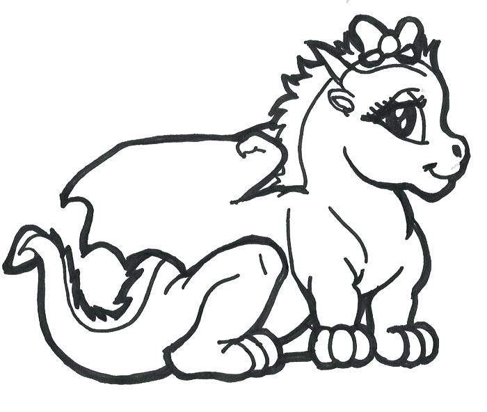 700x592 Baby Dragon Coloring Pages Fire Breathing Dragon Coloring Page