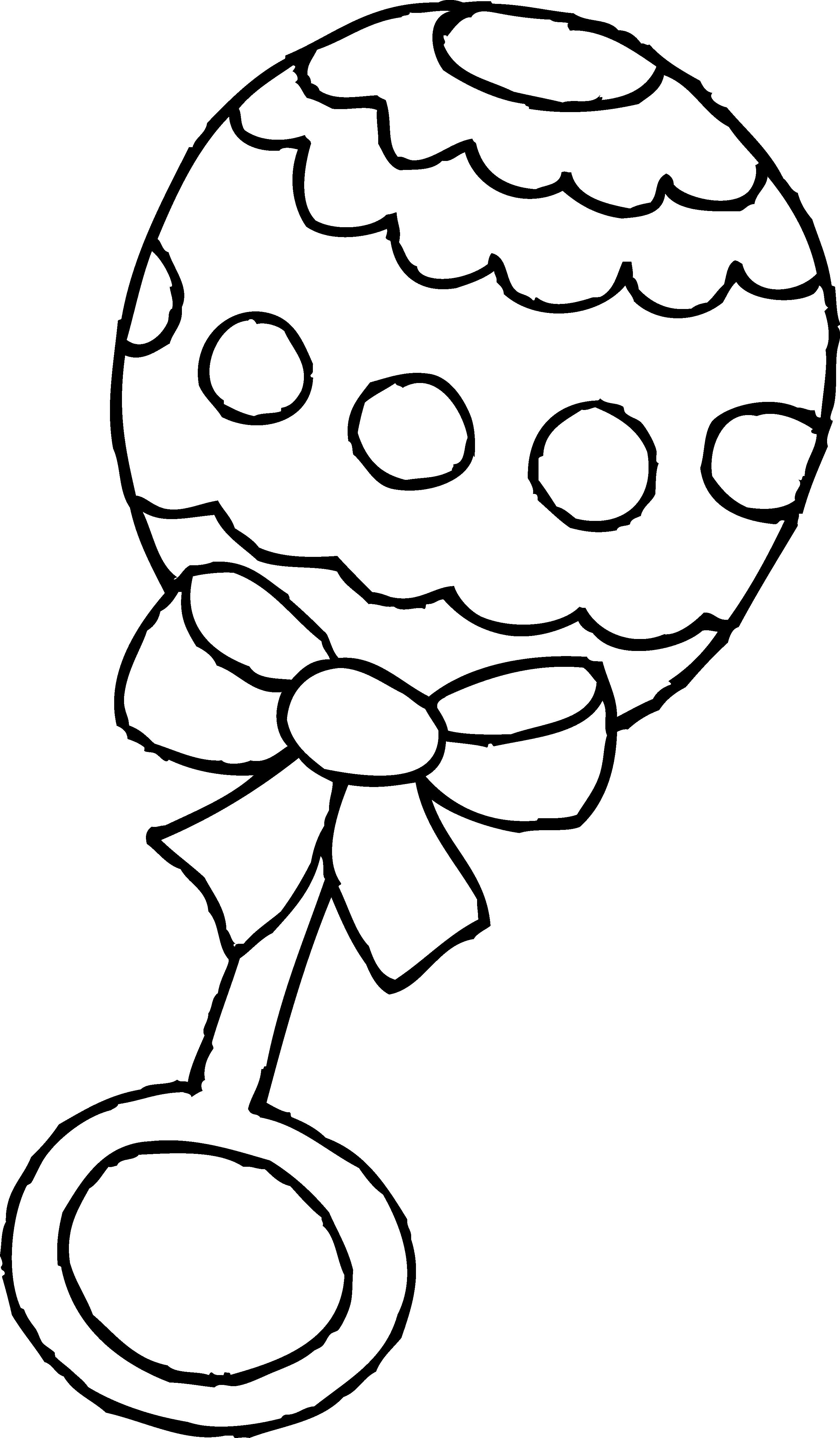 2803x4798 Baby Rattle Coloring Page