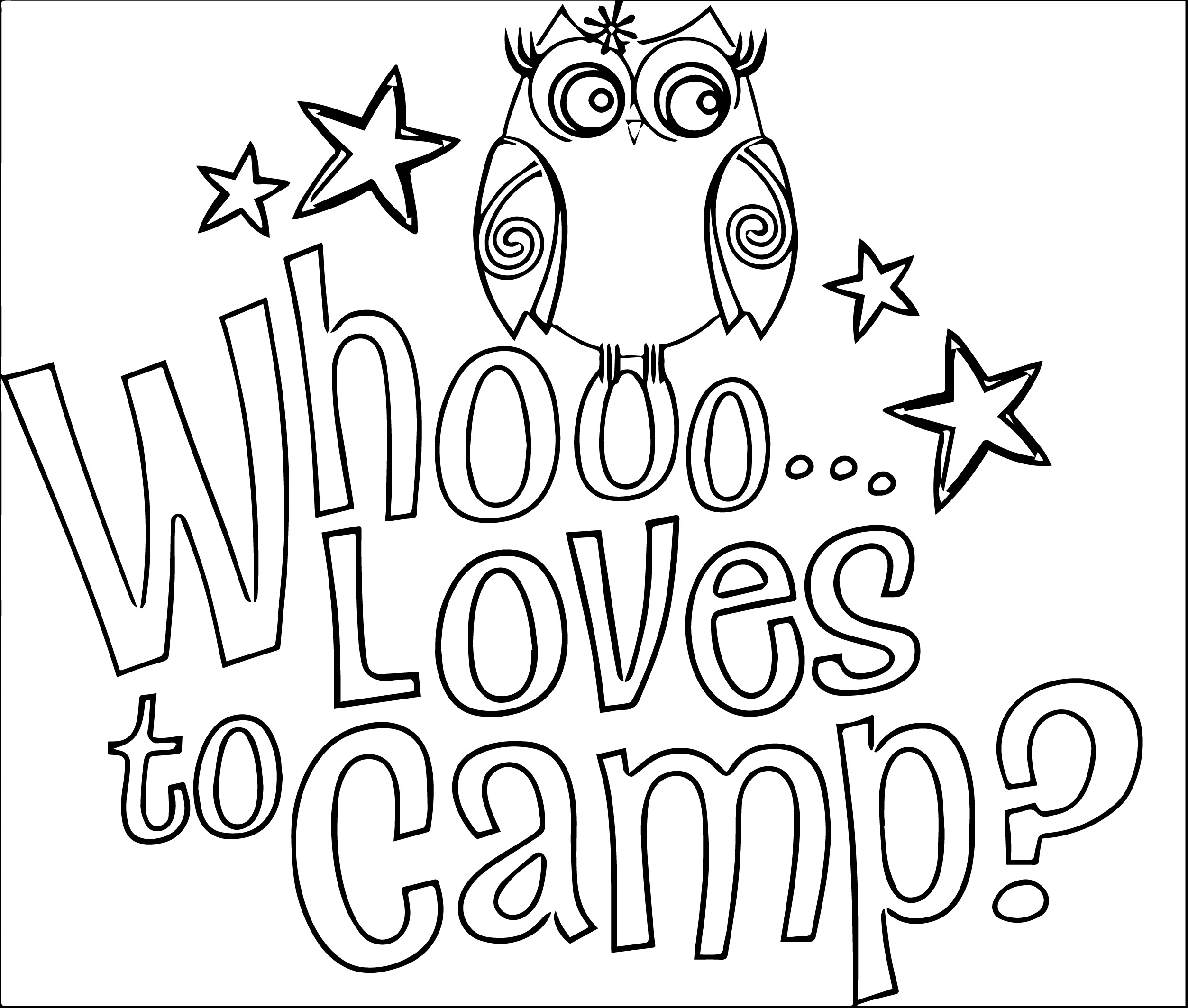 Free Coloring Pages Camping Theme