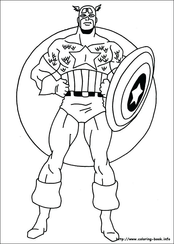 Free Coloring Pages Captain America At Getdrawings Com