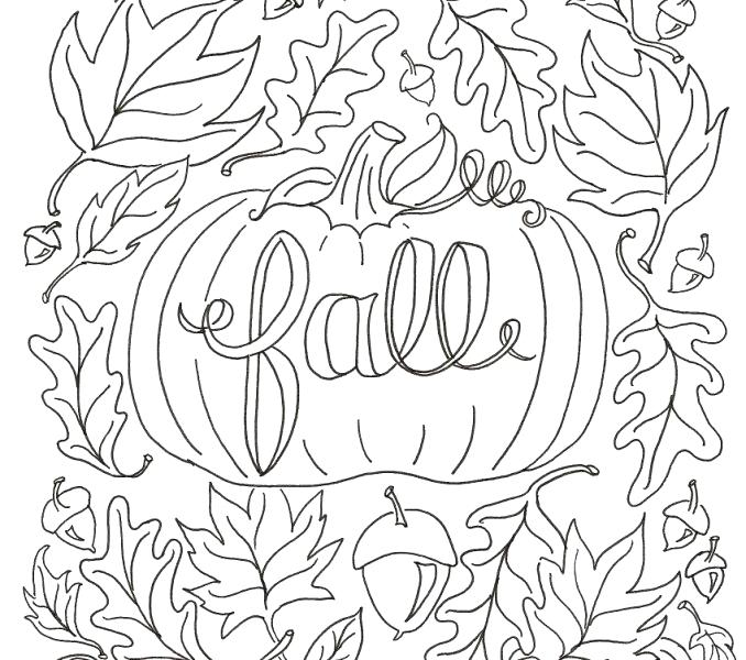 678x600 Printable Coloring Pages Fall Theme Tree Color Bros Coloring