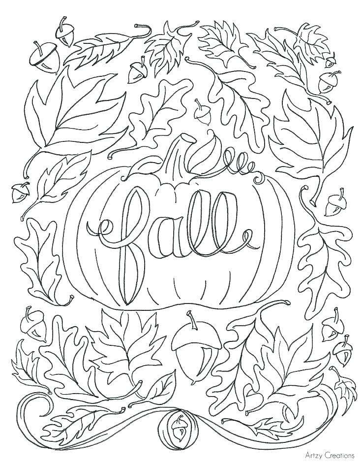 736x952 Fall Autumn Leaves Coloring Pages
