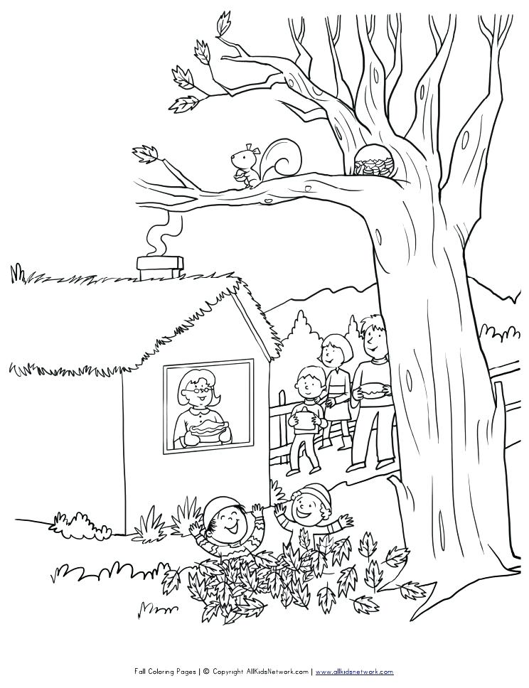 744x968 Coloring Pages Fall Fall Trees Coloring Pages Free Autumn And Fall
