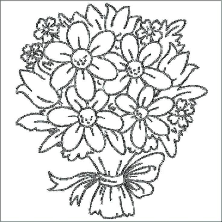 Free Coloring Pages Flowers And Butterflies
