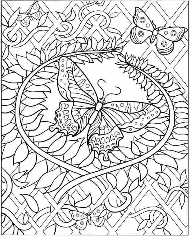 622x770 Difficult Flower Coloring Pages