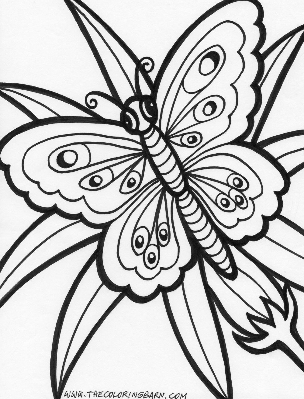 1000x1312 Free Coloring Pages Flowers And Butterflies