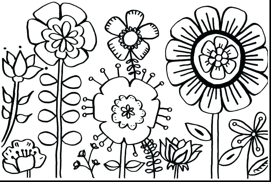 878x591 Free Printable Coloring Pages Of Flowers Coloring Pages Flowers
