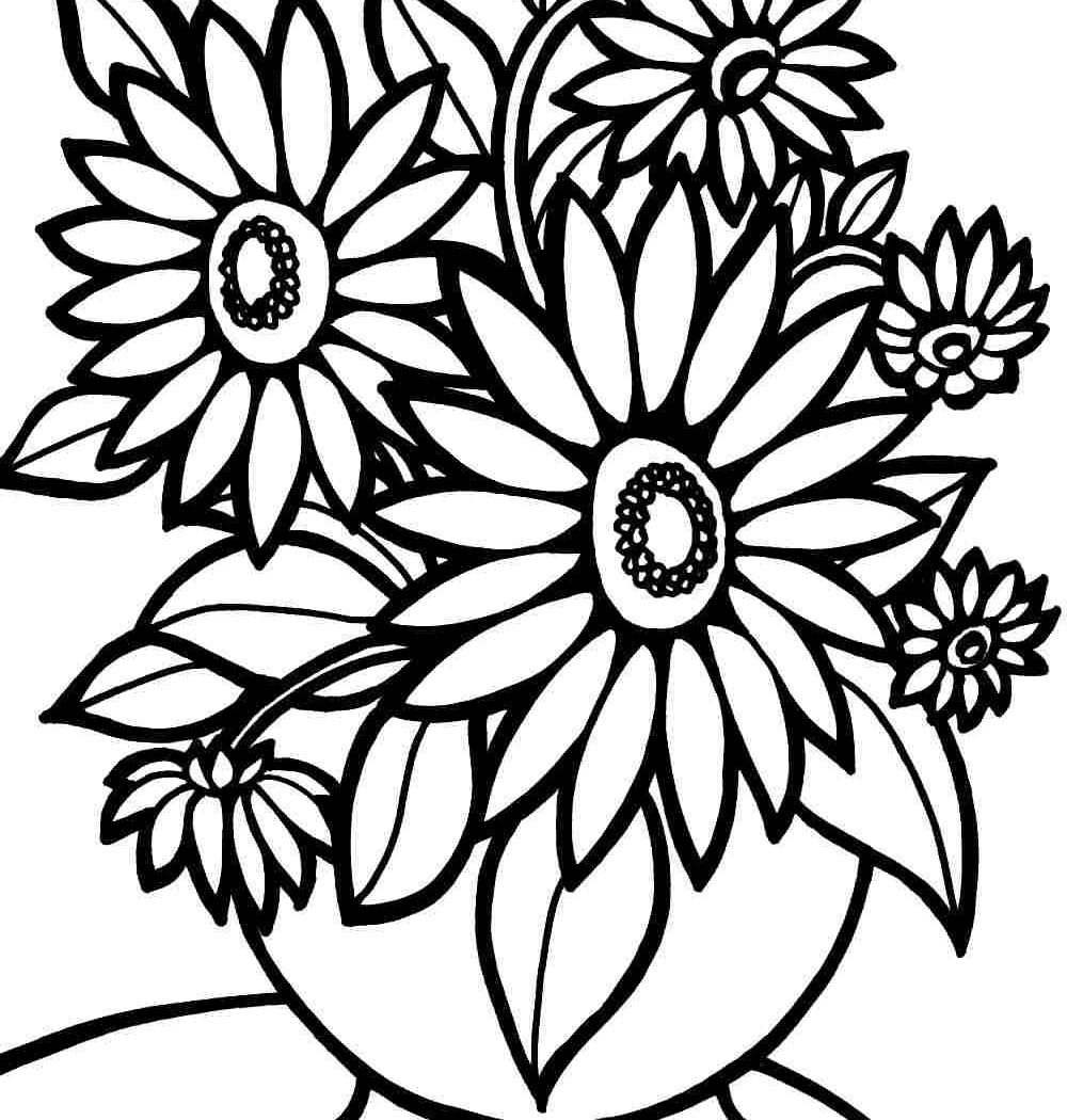 1000x1050 Free Printable Coloring Pagesowers And Butterflies Colouring