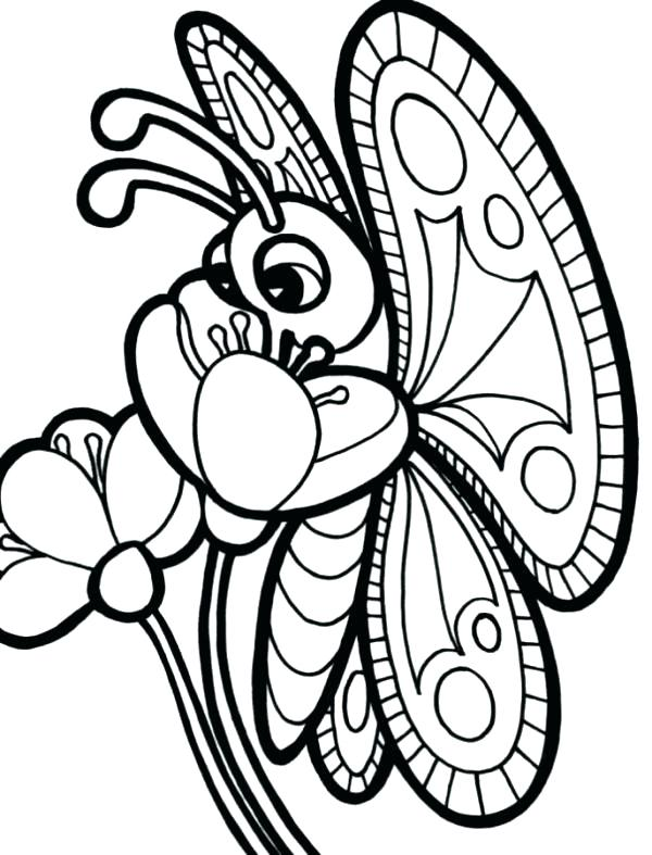 600x787 Printable Coloring Pages Of Butterflies Free Coloring Pages