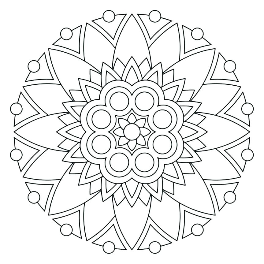 863x863 Coloring Pages For Adults Flowers Coloring Pages Of Mandalas Free