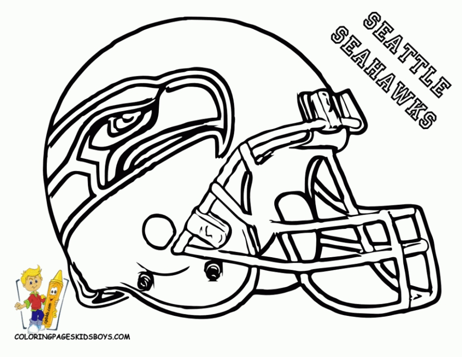 Free Coloring Pages Football Helmets