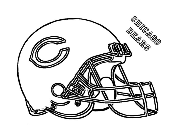 750x580 Football Helmet Chicago Bears Coloring Page For Kids Kids