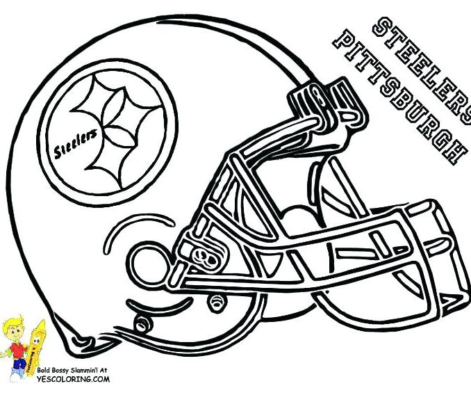 678x568 Steelers Football Coloring Pages Coloring Page