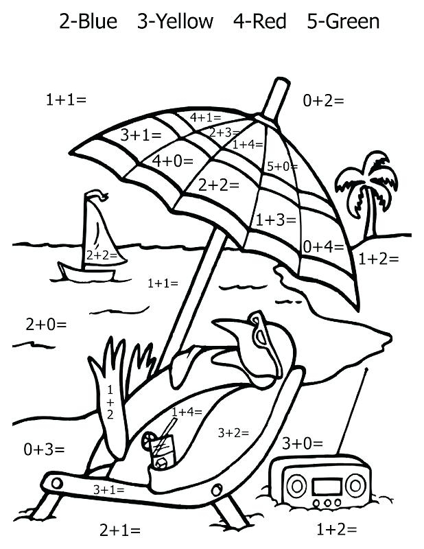 618x800 Addition Coloring Pages First Grade First Grade Math Coloring