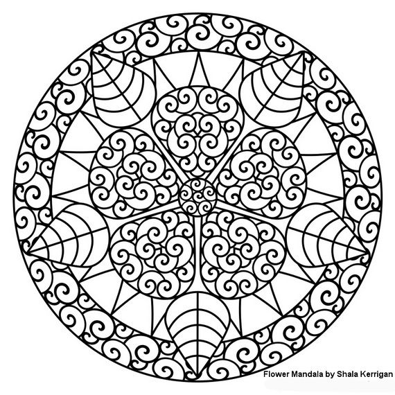 570x570 Unique Spring Easter Holiday Adult Coloring Pages Designs