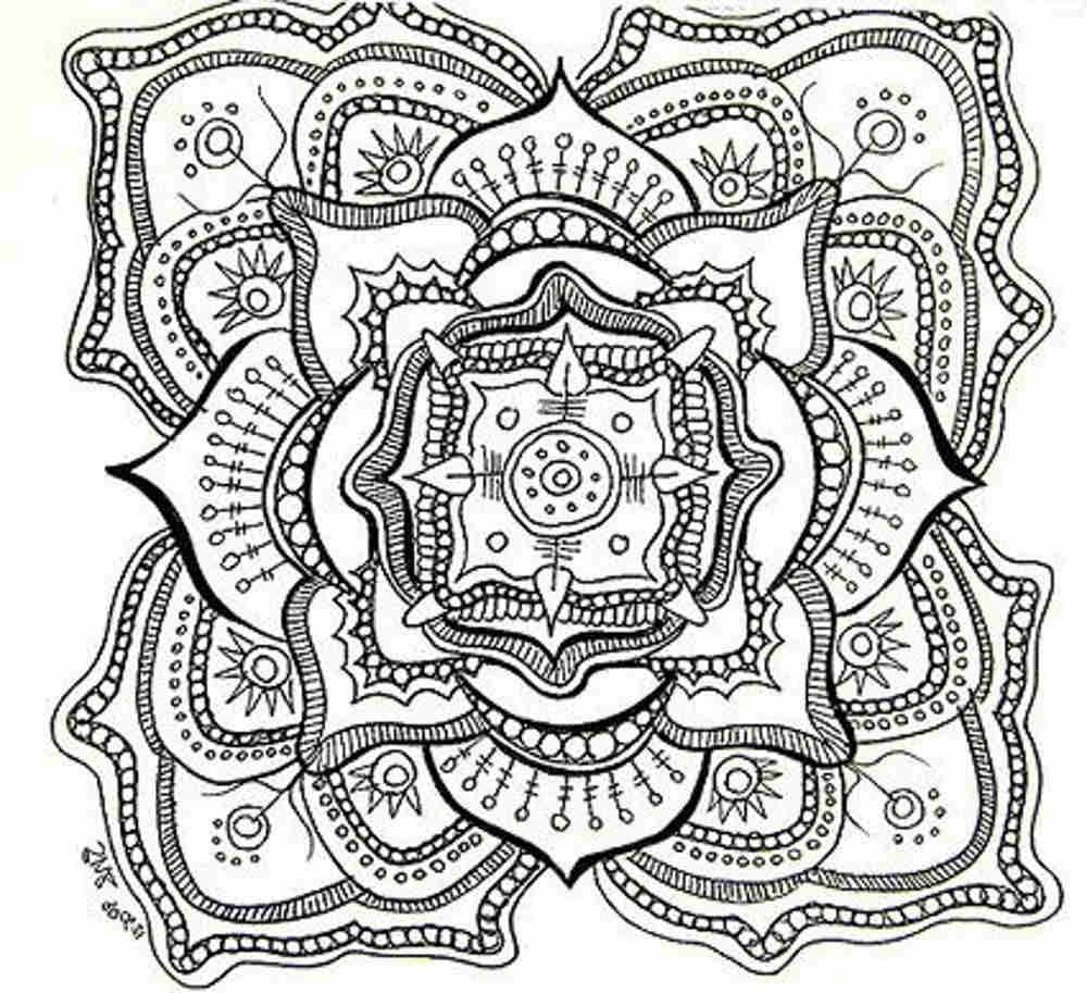 1000x913 Free Coloring Pages For Adults Printable Hard To Color Download