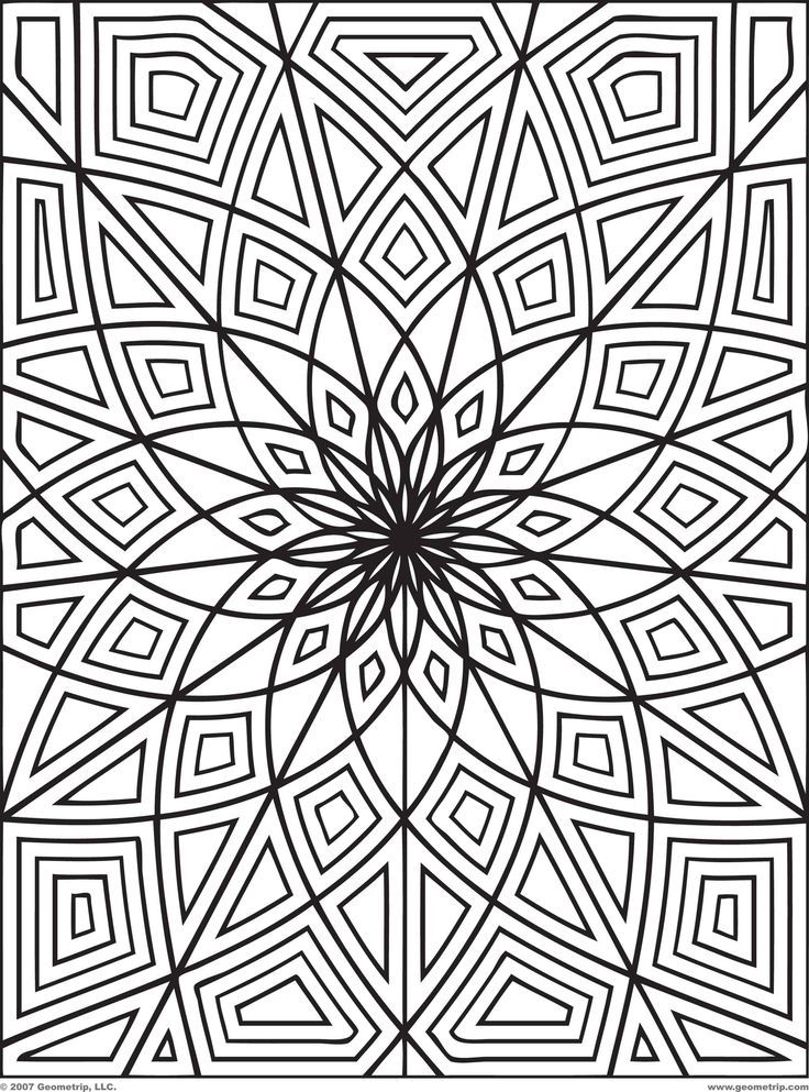 736x993 Free Geometric Coloring Pages For Adults, Free Printable