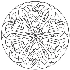 Free Coloring Pages For Valentines Day To Print At Getdrawings