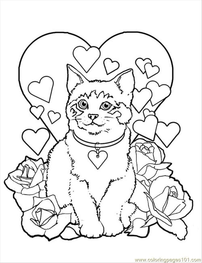 Free Coloring Pages For Valentines Day To Print at ...