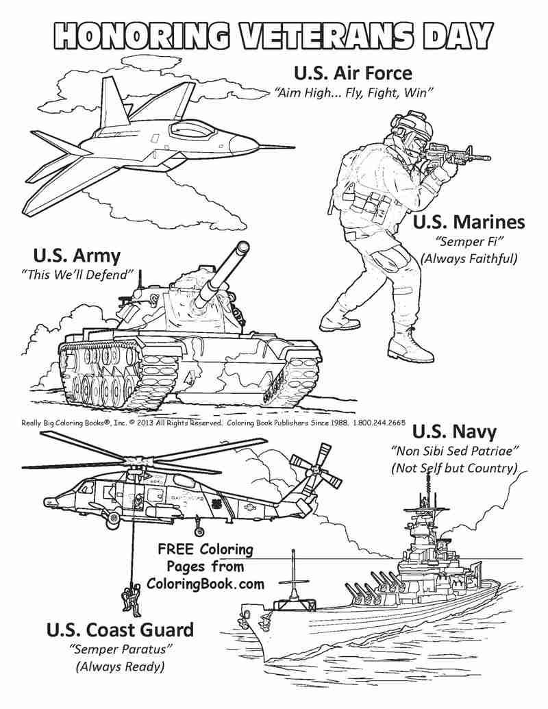 graphic relating to Free Printable Veterans Day Coloring Pages named Free of charge Coloring Internet pages For Veterans Working day at