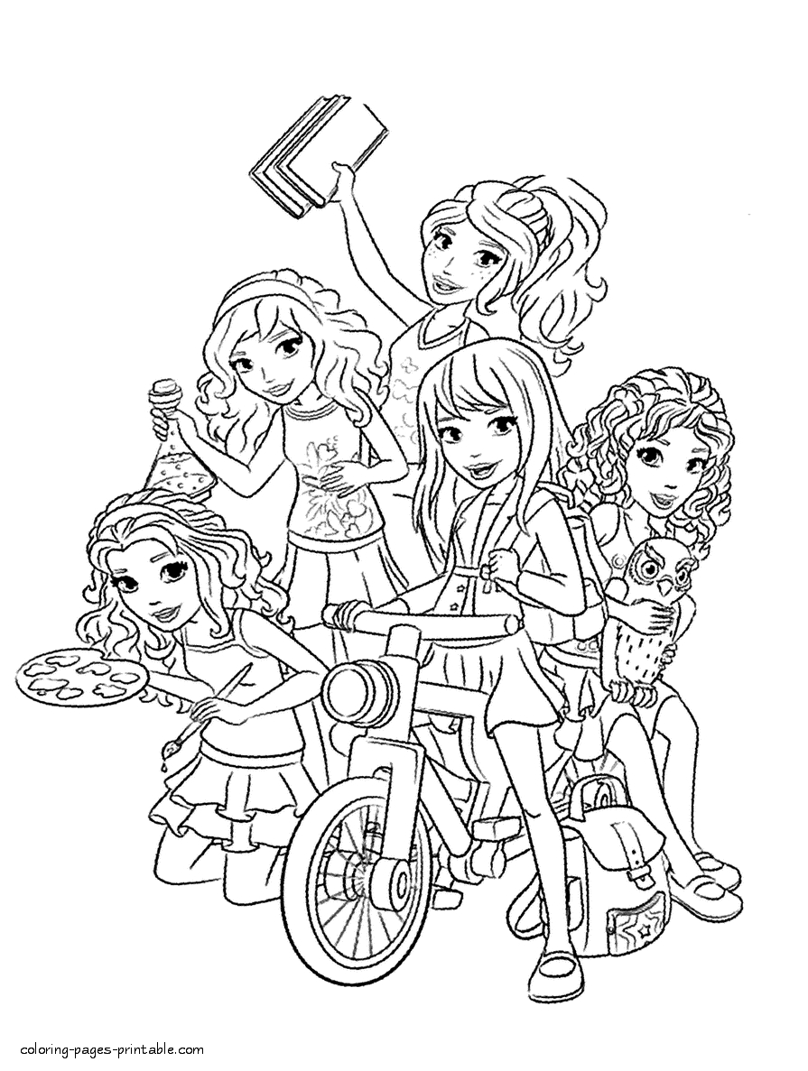 Free Coloring Pages Lego Friends