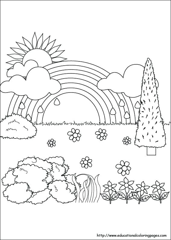 567x794 Nature Scene Coloring Pages Nature Scene Coloring Sheets Nature