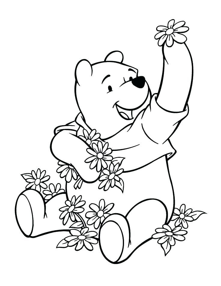 736x950 Coloring Pages Disney Characters Characters Pooh Coloring Pages
