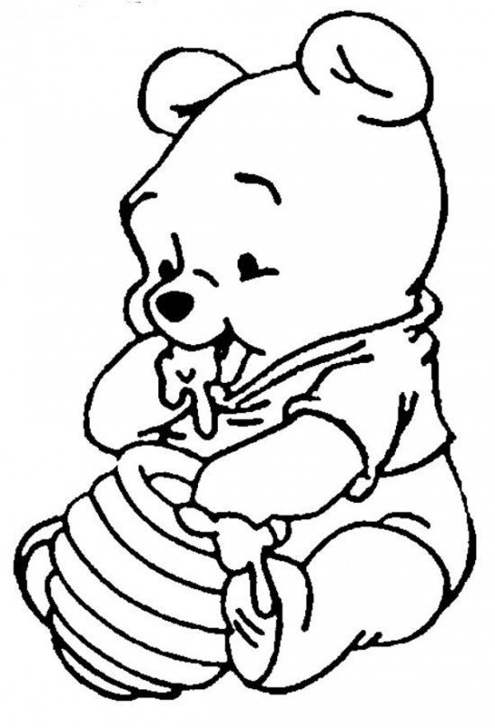 550x808 Disney Characters To Color Ba Disney Coloring Pages Funycoloring