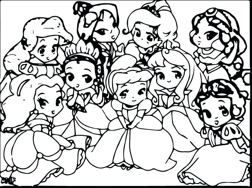 970x725 All Disney Characters Coloring Pages