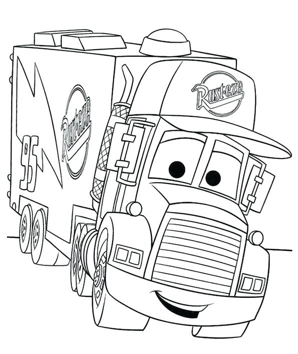 595x706 Awesome Coloring Pages Cars For Car Transporter Cement Truck Free