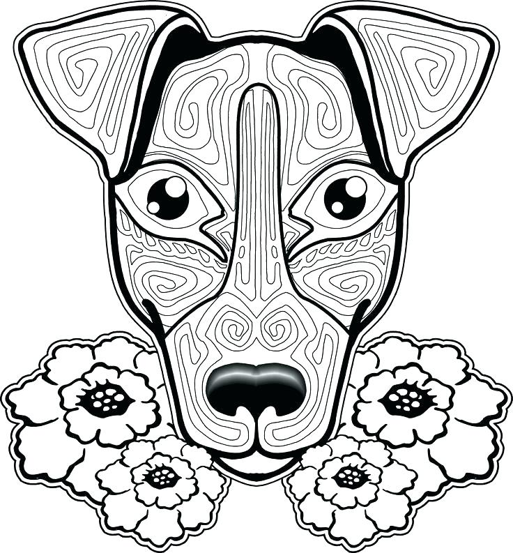 736x793 Free Coloring Pages Of Dogs To Print And Cats Together Dog
