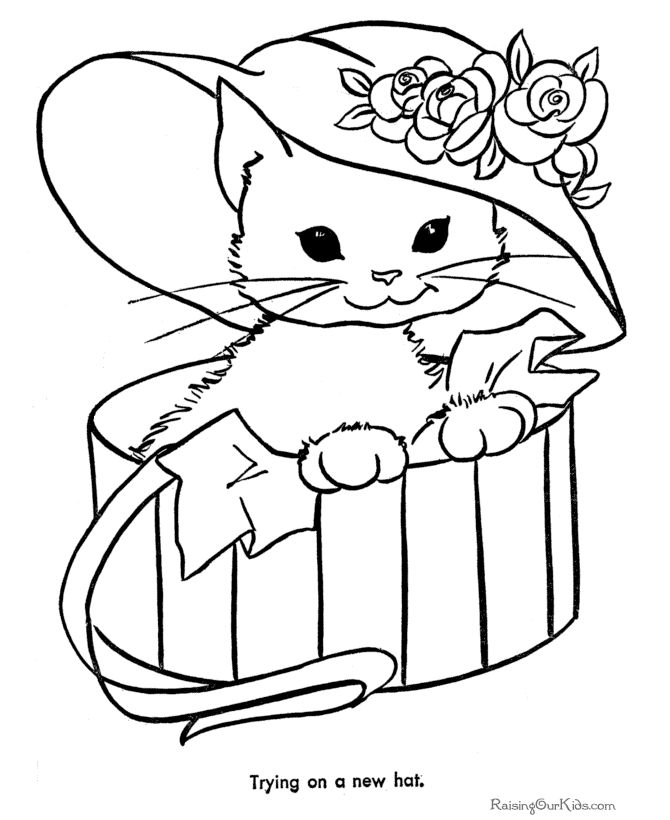 670x820 Free Printable Kitten Coloring Pages Best Cat Coloring Page